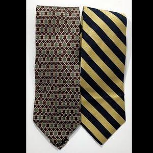 Lot of 2 Brooks Brothers Silk Ties
